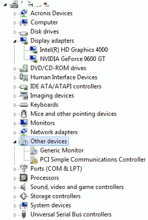 Device Manager After NVidia Driver Installation
