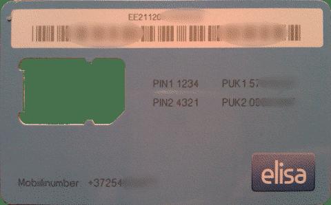 Elisa SIM Card Comes In This Card