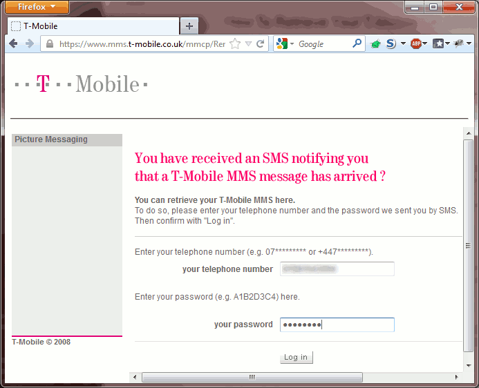 t mobile number