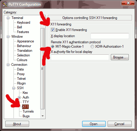 Putty Configuration for X11 Forwarding