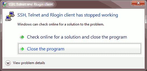 Putty Crashing When X Command Sent Over SOCKS4 Proxy