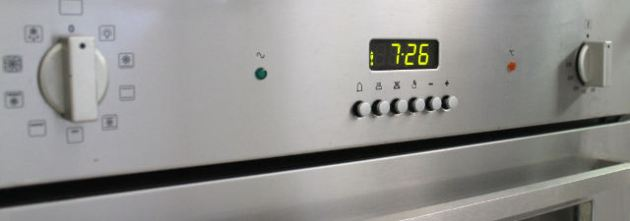 Front panel of Technika oven