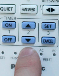 Changing the Time on the Panasonic Air-Conditioner Remote Control
