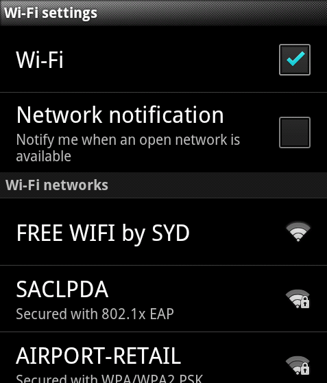 Choose FREE WIFI by SYD