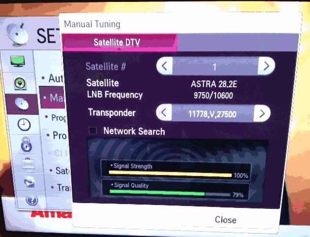 Manual Tuning Reveals Signal Strength