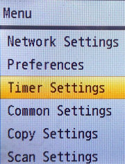 Navigate to Timer Settings and press OK
