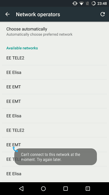 Can't connect to this network at the moment
