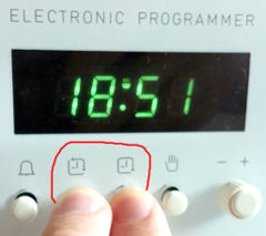 how to set clock on blanco oven