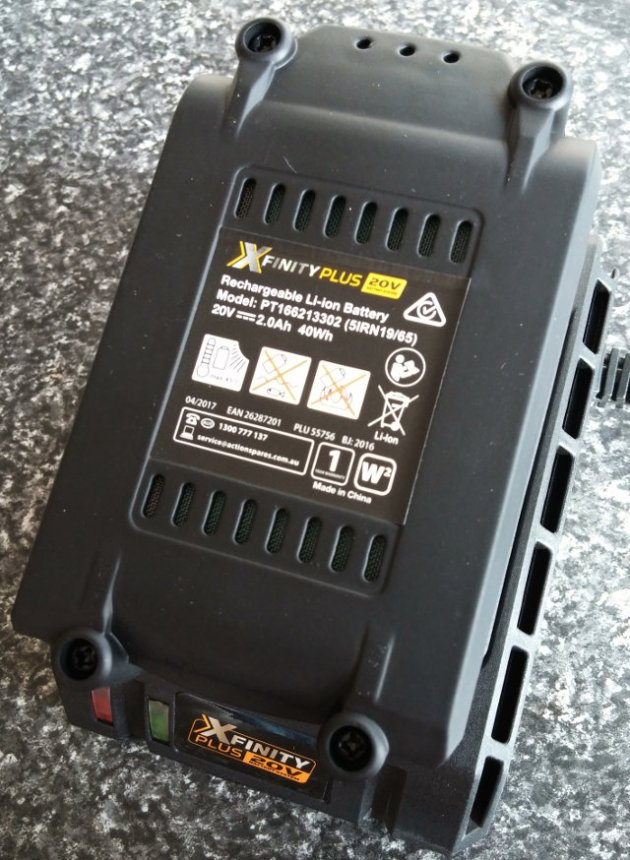 XFinity Plus 20V Li-Ion Quick Charger With Red LED Flashing During Battery Charge