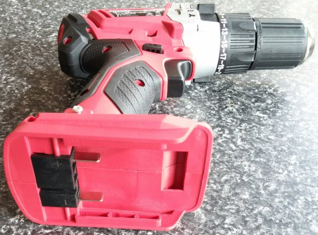WorkZone Titanium+ XFinity Li-Ion 20V Cordless Hammer Drill Bottom View