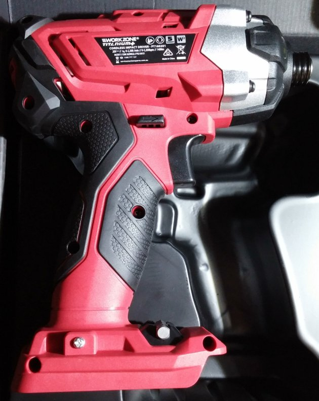 WorkZone Titanium+ XFinity Li-Ion 20V Cordless Impact Driver Right View